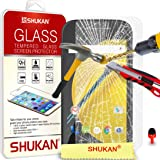Motorola Moto E 2nd Gen Tempered Glass Crystal Clear LCD Screen Protector Guard & Polishing Cloth + RED 2 IN 1 Dust Stopper SVL6 BY SHUKAN®, (TEMPERED GLASS)