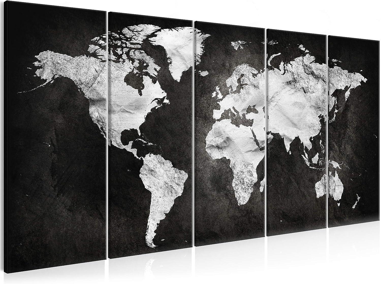 Wandbild Weltkarte - 5-teilig