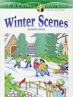 Creative Haven Winter Scenes Coloring Book Adult