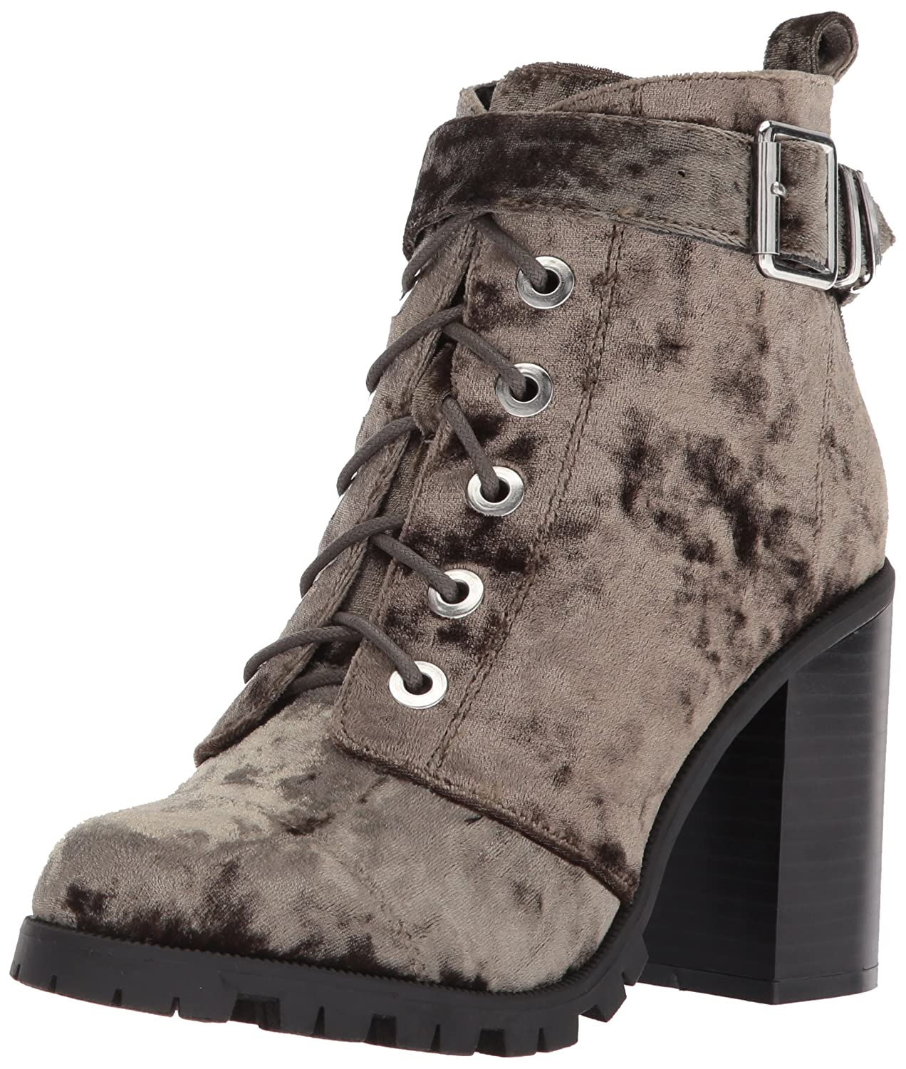 Qupid Women's B(M) Hiking Boot B075WKBLHL 7.5 B(M) Women's US|Khaki Crushed Velvet 1dc56b