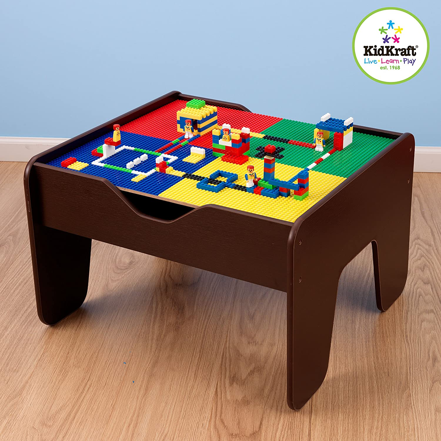 & Amazon.com: Kidkraft 2-in-1 Activity Table Espresso: Toys u0026 Games