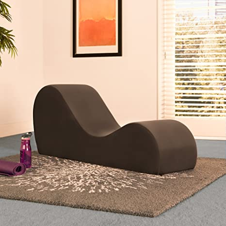 Amazon liberator chaise lounge yoga chair espresso micro