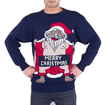 Frohe Weihnachten Männer Bilder.Noroze Männer Herren Erwachsene Neuheit Nackt Weihnachtsmann Frohe Weihnachten Strickpullover Pullover Größe Sml Xl Xxl