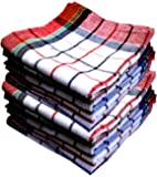 Space Fly Highly Absorbent 100% Cotton Multipurpose Kitchen, Chapatis Napkin And Cleaning,20X20Inch,(10 Pieces_Multi Color Striped)
