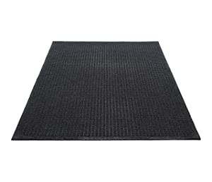 Guardian EcoGuard Indoor Wiper Floor Mat, Recycled Plastic and Rubber, 3' x 5', Charcoal