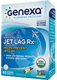 Genexa Jet Lag Homeopathic Relief: Certified Organic, Physician Formulated, Natural, Non-GMO, Jet Lag Flight Fatigue Remedy. Helps You Feel Less Fatigued & Fresher After Arrival (60 Chewable Pills)