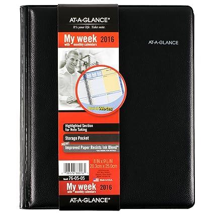 AT-A-GLANCE mensual con citas con vista // semanales y 2016 ...