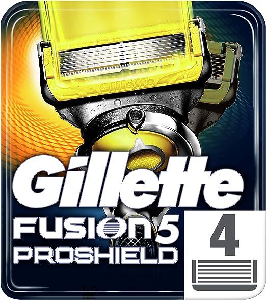 Gillette Fusion Proshield Pack de 4 cuchillas: Amazon.es: Salud y ...