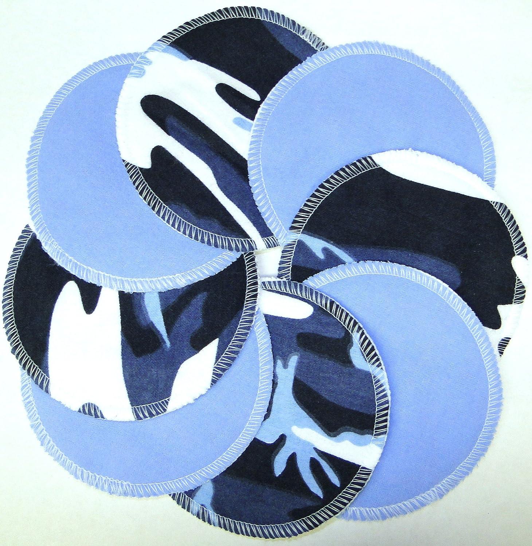 NuAngel Designer Washable Nursing Pads 100% Cotton - Blue & Blue Camo - Made in U.S.A. by NuAngel   B004749GCI