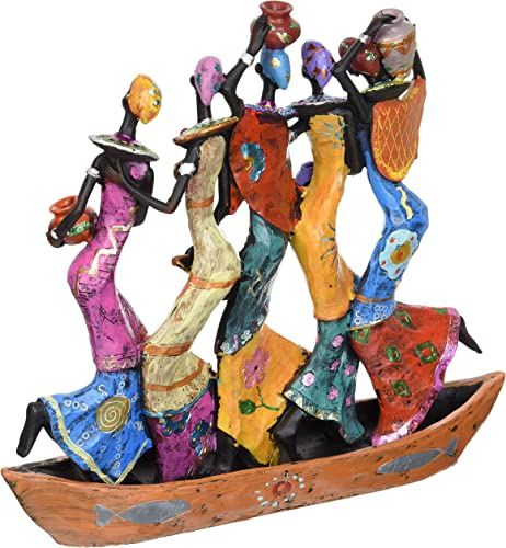 Design Toscano QL177891 The Maiden Water Carriers of Ghana Sculpture,Full Color