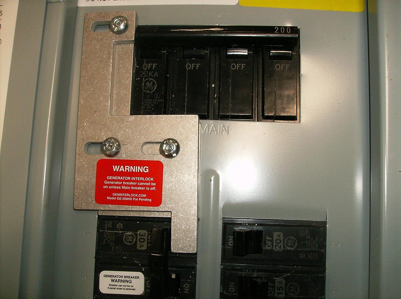 GE-200HDA GE General Electric Generator Interlock Kit for Verticle on waterproof circuit breaker covers, ge panel meter frequency, ge panel cover screws,