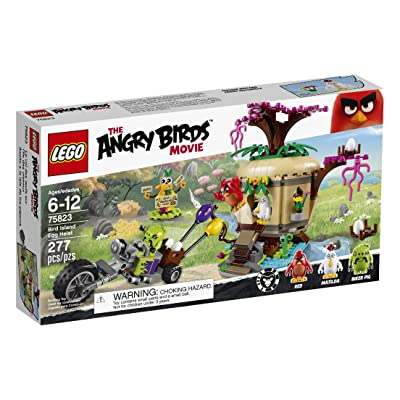 LEGO Angry Birds 75823 Bird Island Egg Heist Building Kit (277 Piece): Toys & Games