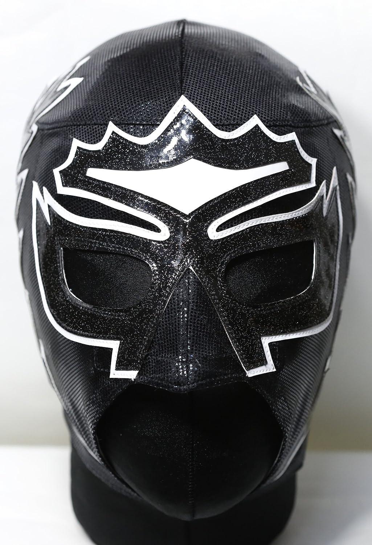 ソベラーノJr(CMLL)/HG<FDX>マスク(黒プンティーニ/黒ラメ白縁) B072KN3H8D