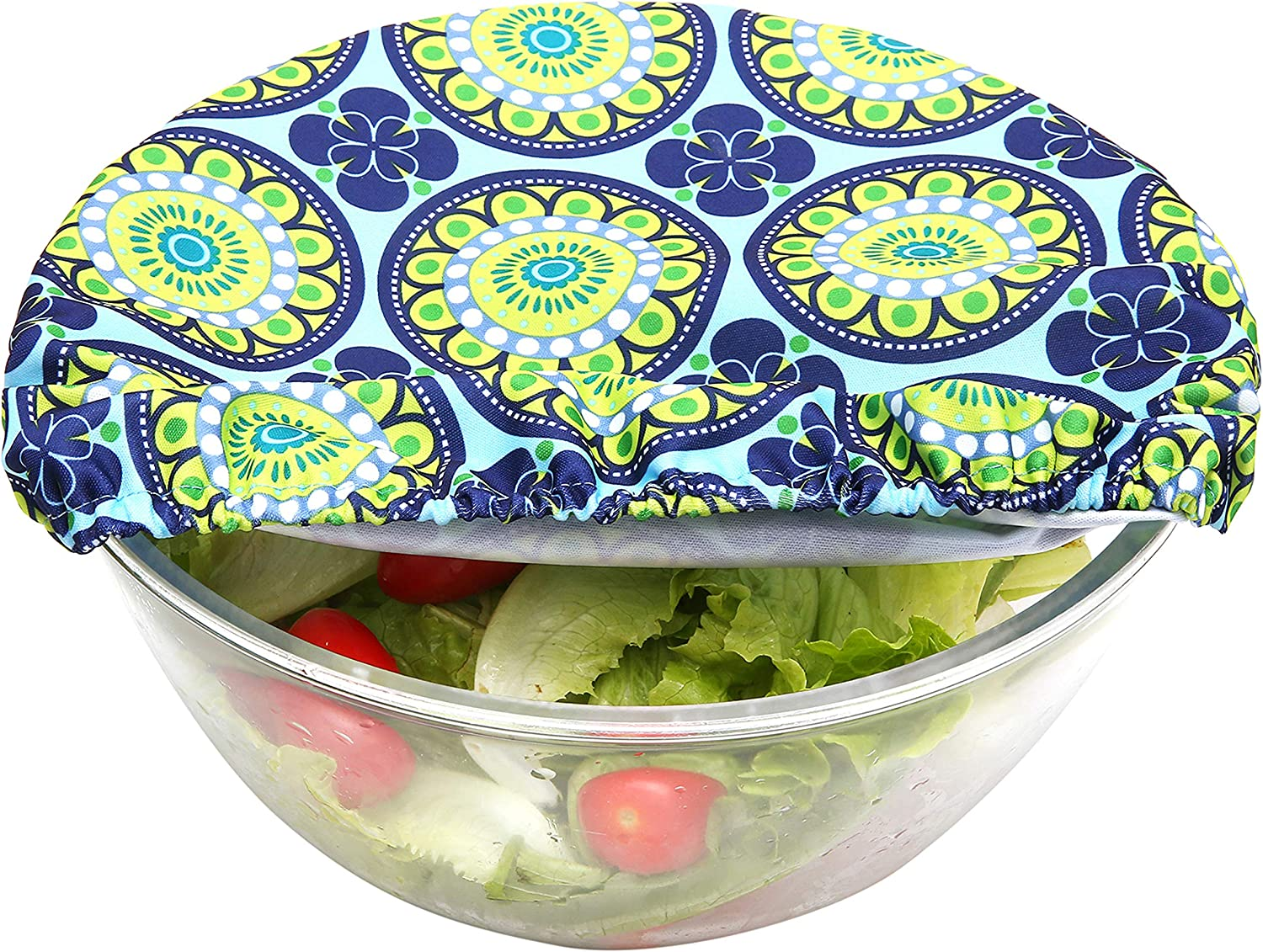 Set of 3,Funky Flower Wegreeco Reusable Bowl Covers