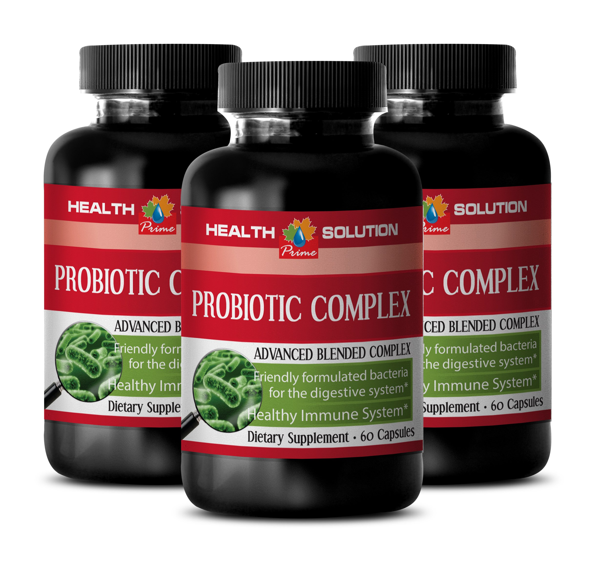 Probiotic immune support - PROBIOTIC COMPLEX 550MG - help to support skin (3 Bottles) by Health Solution Prime