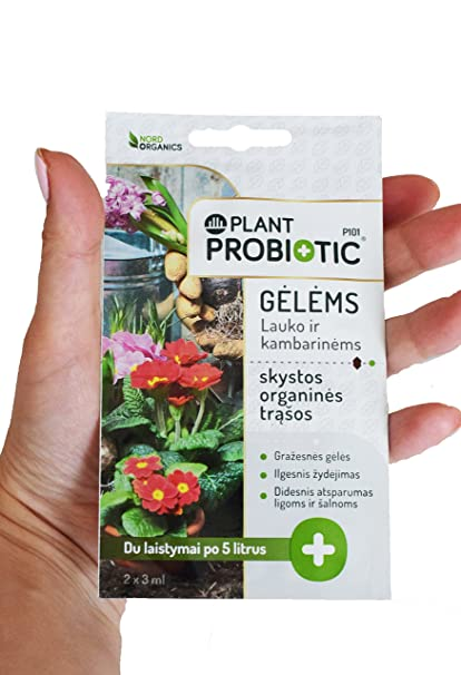 Bolsitas probióticas concentradas para plantas - 1 bolsita=2 riegos (10 litros) - Fertilizante orgánico líquido para flores de interior y exterior - Con ...
