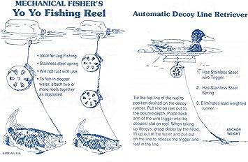 Lot of 12 Mechanical Fishing Snare Reel Yo Yo Hunting