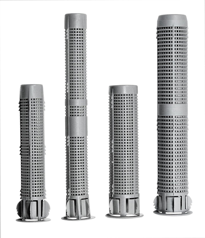 Gr/ö/ßen- und L/ängenauswahl m/öglich Gitterh/ülsen mit Kragen aus Kunststoff SN-TEC Siebh/ülsen 10, 20x130mm f/ür M12 bis M16 Ankerh/ülsen