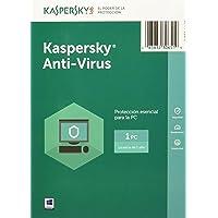 Kaspersky Anti-Virus 2017 1 usuario 1año