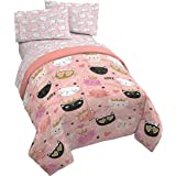 Jay Franco Purrrfect 4 Piece Twin Bed Set - Includes Comforter & Sheet Set - Bedding Features Cats - Super Soft Fade Resistan