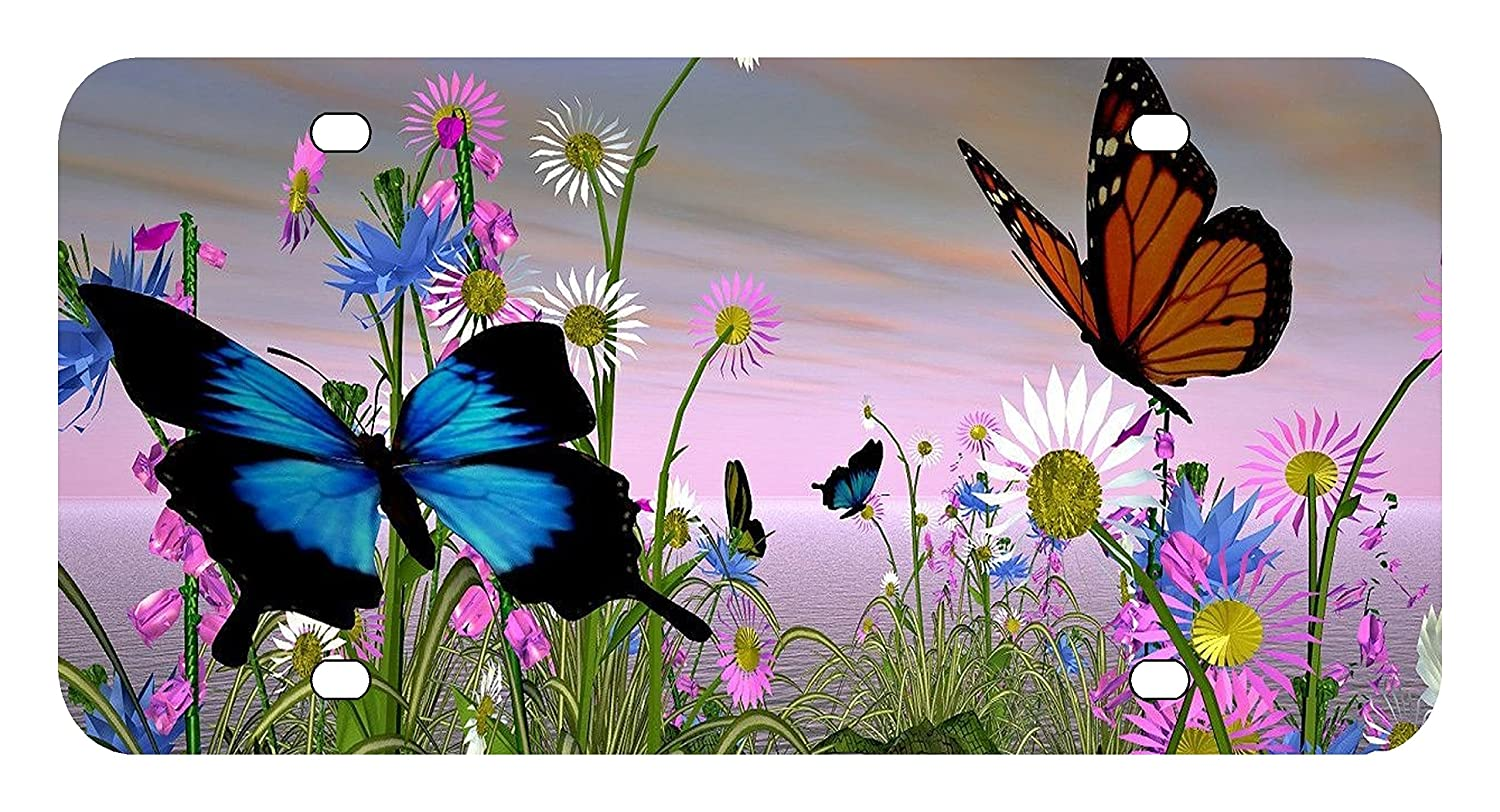 L274 BUTTERFLY License Plate Front Custom Novelty Tag Vanity Frame Holder Wrap Wraps Sign Factory