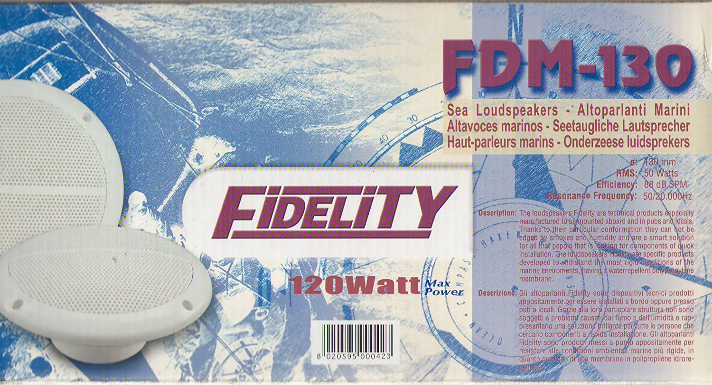 fdm130 altavoces Barco marinos Fidelity diámetro 130 mm 120 ...