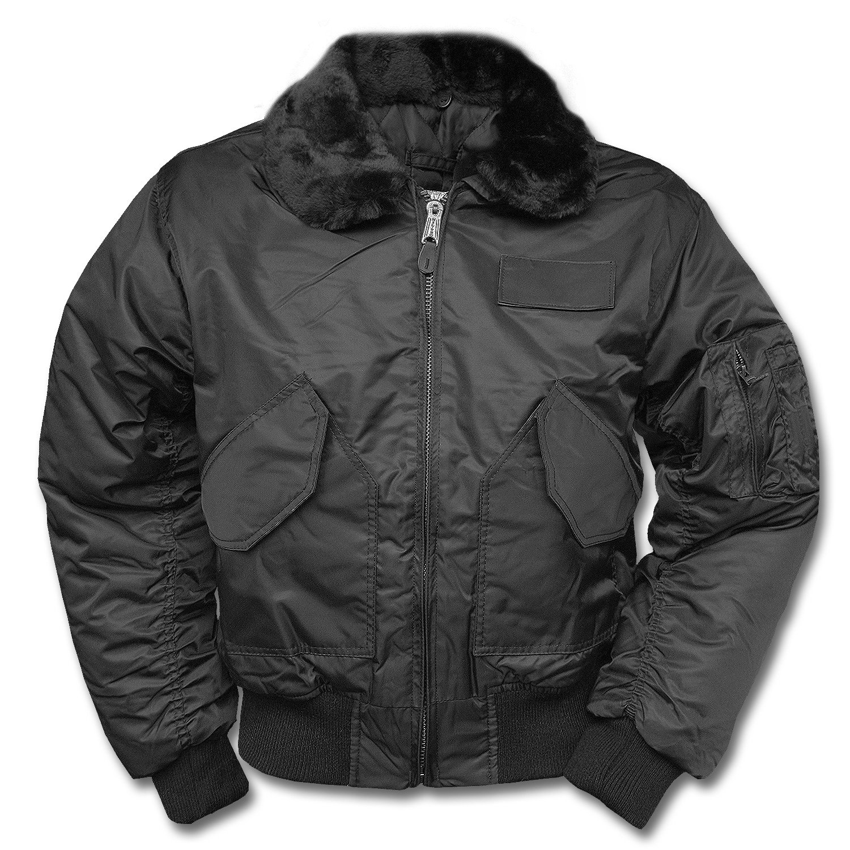 US CWU MA2 SWAT Flight Bomber Mens Jacket with Fur Collar BLACK, SIZE XXXL Mil-Tec 10405002-007