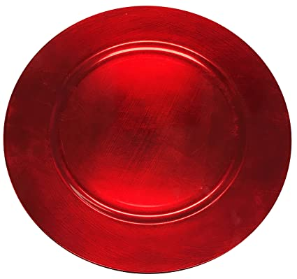 new elegant christmas cherry red round charger plate large 13 round christmas cookie serving round