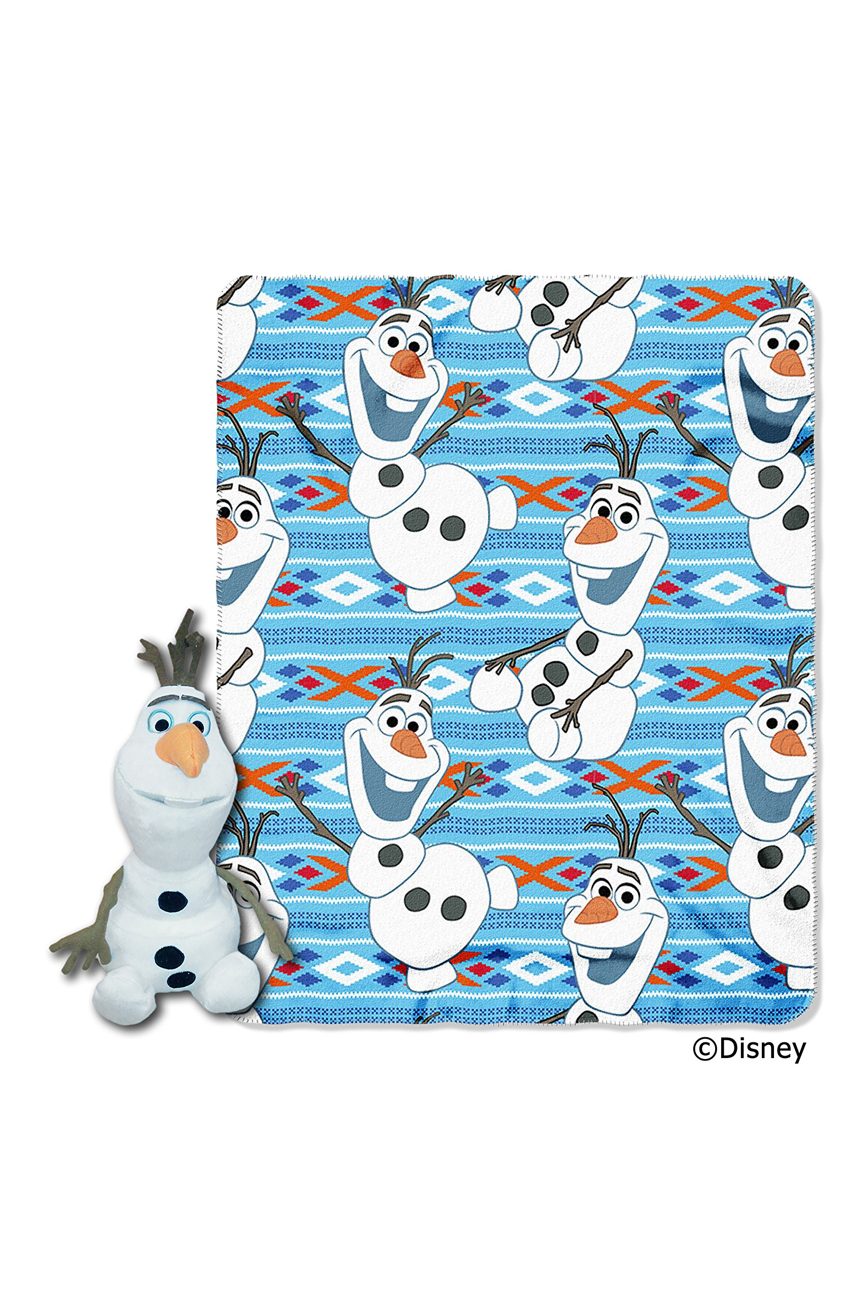 Disney's Frozen, ''Olaf Dance'' Character Pillow and Fleece Throw Blanket Set, 40'' x 50'', Multi Color by Disney