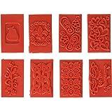 Soap Embossing Stamp Assortment 8/Pkg-Rectangle