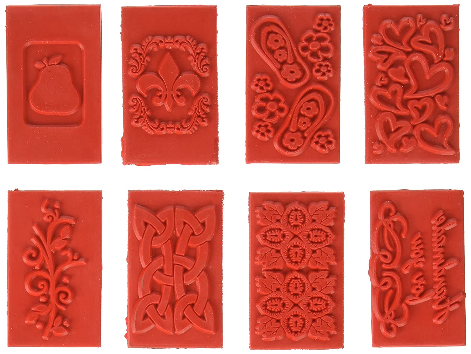 Life Of The Party Soap Embossing Stamp Assortment 8/Pkg-Rectangle, Other, Multicoloured Notions Marketing SP61507