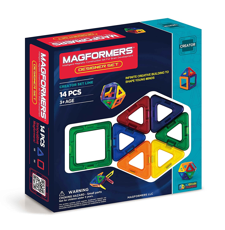 Magformers Creator Designer Set (14-Pieces) Magnetic    Building      Blocks, Educational  Magnetic    Tiles Kit , Magnetic    Construction  STEM Set 63311