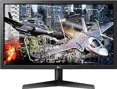 LG UltraGear 24GL600F-B 24 Inch Full HD Gaming Monitor with Radeon FreeSync Technology, 144Hz Refresh Rate, 1ms Response Time (2019) - Black