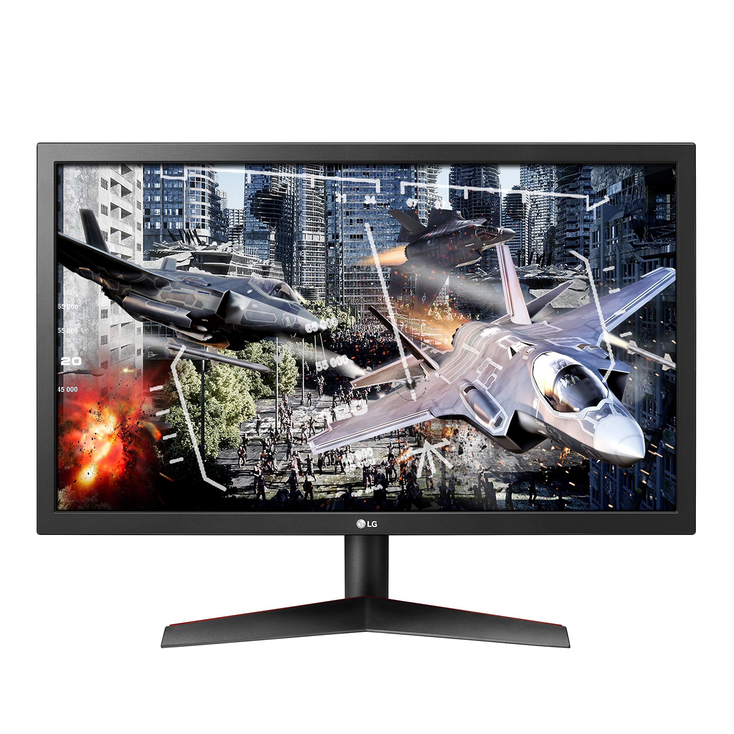Monitor para juegos LG UltraGear 24GL600F-B de 24 pulgadas Full HD con tecnología Radeon FreeSync, frecuencia de actualización de 144 Hz, tiempo de respuesta de 1 ms (2019) - Negro