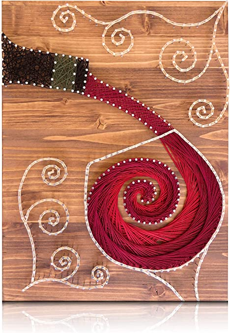 Amazon Com Wine String Art Kit Diy Kit Includes All Crafting Supplies Wine Lover Gift String Art Patterns Bar Art Craft Kit For Adults