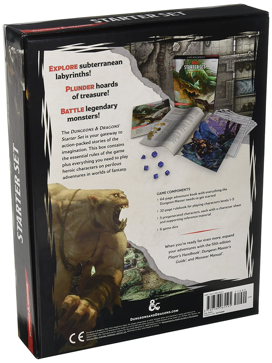 Amazon Dungeons Dragons Starter Set Fantasy DD Roleplaying Game 5th Edition RPG Boxed Toys Games
