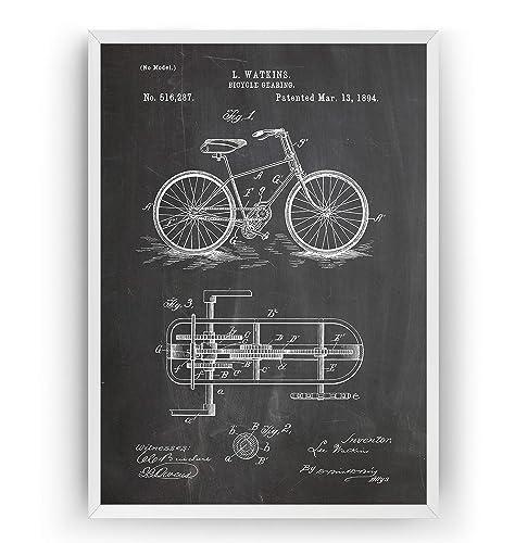 Engranajes de Bicicleta 1894 Poster de Patente - Patent Póster Con ...