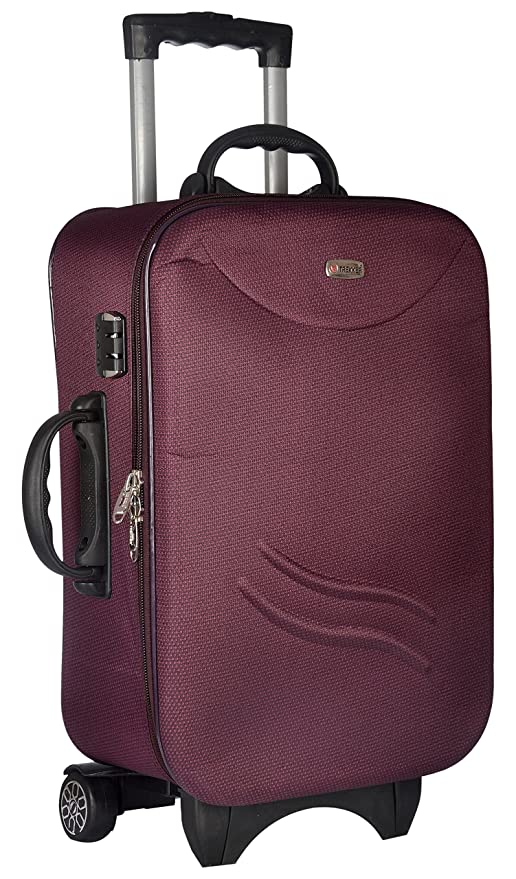 TREKKER Polyester 50 cms Purple Softsided Cabin Luggage  TTB STD20 PL  Suitcases   Trolley Bags
