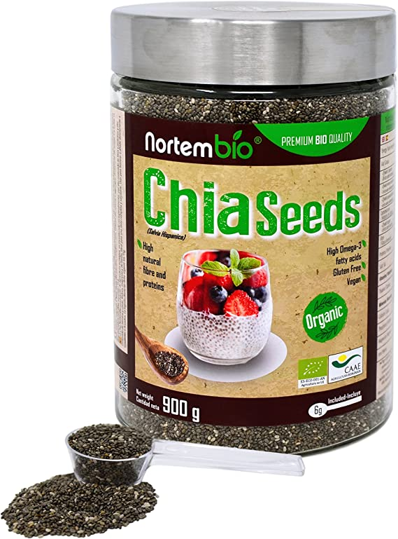 Semillas de Chia (Salvia hispanica) Natural NortemBio 900g ...