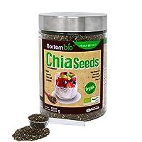 Graines de Chia (Salvia hispanica) Naturel NortemBio 900g, Qualité Supérieure. Extra d'Oméga 3, Fibre et Protéine d'Origine Végétale.