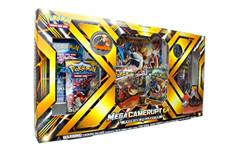 ab81257ff6f873 Image Unavailable. Image not available for. Color: Pokemon TCG: Mega  Camerupt EX Premium Collection Box