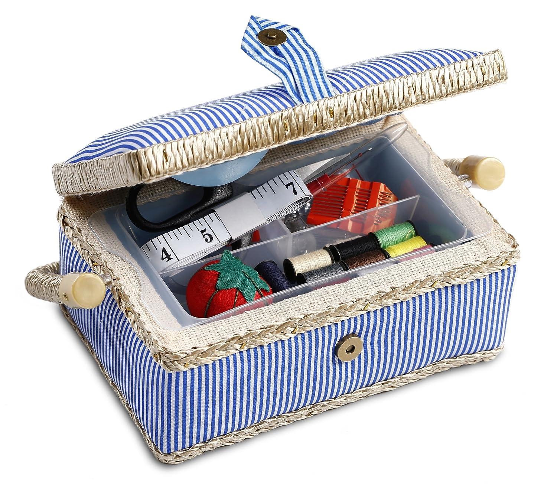bbloop Cestino da Cucito Vintage (piccolo) con accessori per cucire
