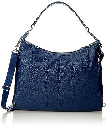BREE Damen Brigitte 6 Schultertasche, Blau (Blue), 10x38x43 cm