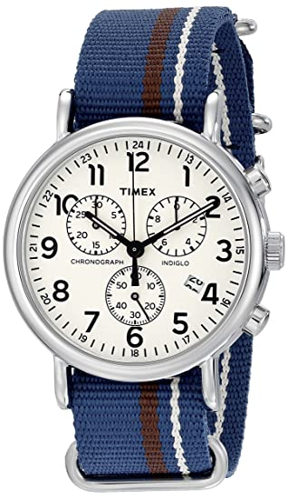 Timex WeekenderTM Chronograph TW2P62400 Cronógrafo para hombres Iluminación Indiglo: Amazon.es: Relojes