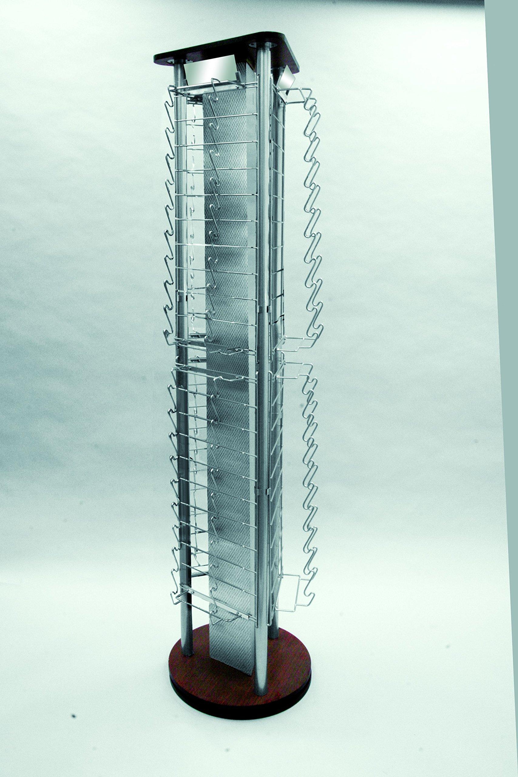 New Retail Sunglass Display Rack 120 Pair 3-sided Rotating Chrome Display Rack