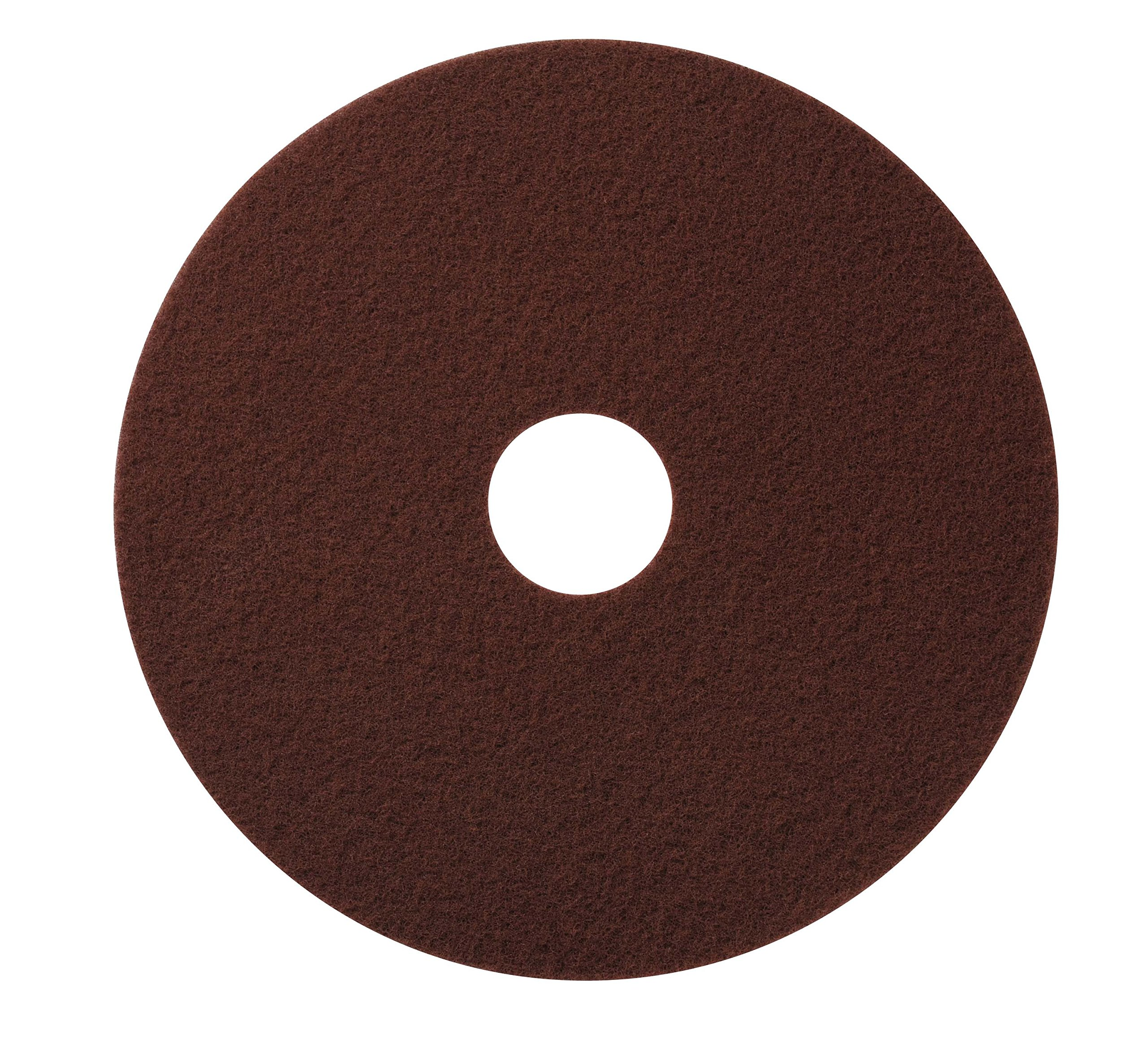 Glit / Microtron 420717 Chemical Free Stripping or Deep Scrub Pad, 17'', Maroon (Pack of 10)