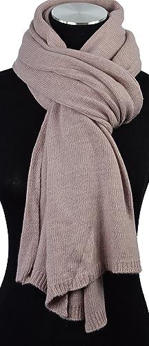 Bellissimo, morbida sciarpa lavorata a maglia/sciarpa con cashmere e lana con Exkl usivem sciarpa schmuecker, Winter Sciarpa per Donna della collezione 17/18