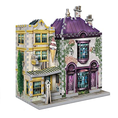 Wrebbit 3D Puzzle DIAGON_3 Harry Potter Madam Malkin's & Florean Fortecsue's Ice Cream 290, White: Toys & Games