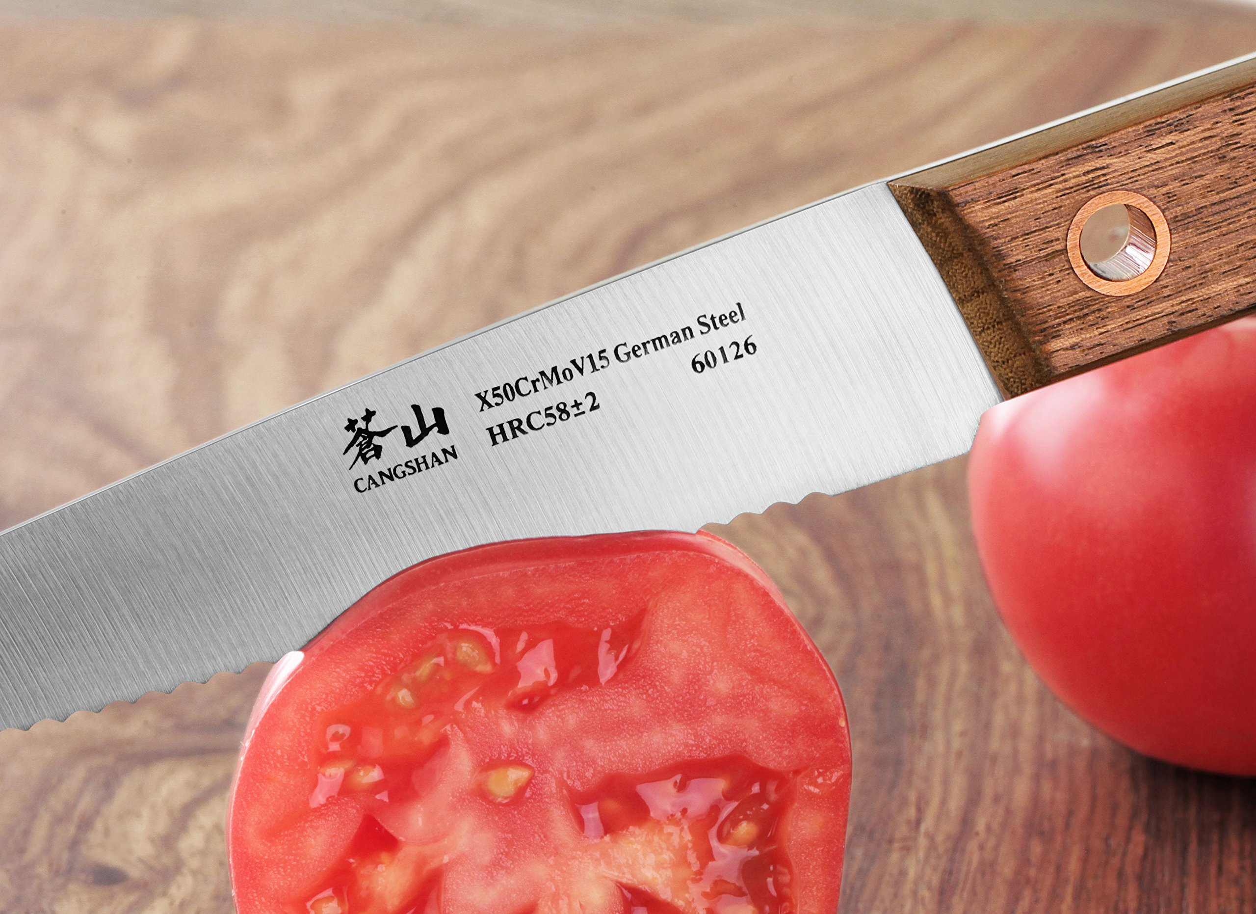 Cangshan W Series 60126 German Steel Serrated Utility Knife, 5-Inch by Cangshan (Image #4)