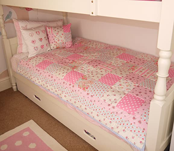 Patchwork Quilt single bed size handmade Cath Kidston fabric ... : handmade patchwork quilts uk - Adamdwight.com